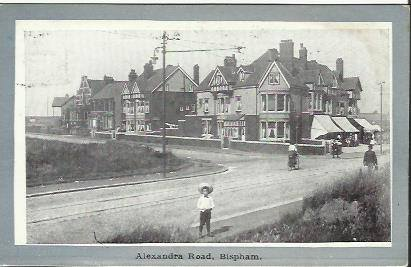 1904 postcard Alexandra Road, now Beaufort Avenue Bispham