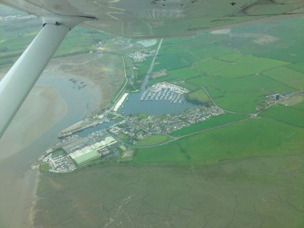Glasson Dock from the air