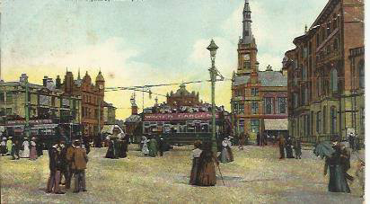 Talbot Square Blackpool 1904 postcard