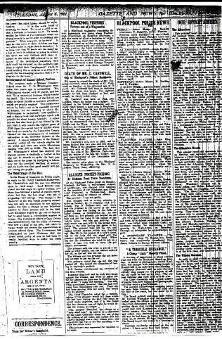newspaper announcement of the death of cornelius cardwell 1901